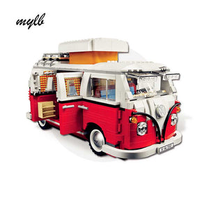 Technic Volkswagen T1 Camper Van Building Block Kit 1354 Pcs