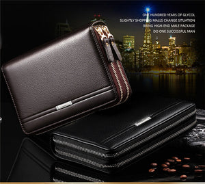Business and Travel PU Leather Clutch Wallet