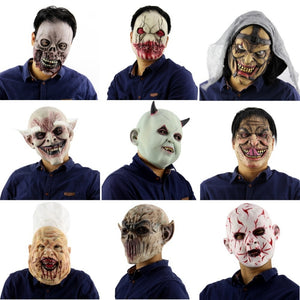 Horrifying Full Overhead Latex Cosplay Mask 9 Scary Choices