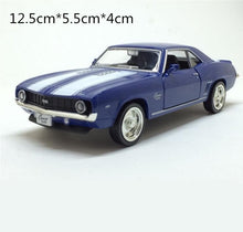Chevrolet 1969 Camaro Classic Alloy Pull Back Model, High Simulation 1:38 scale