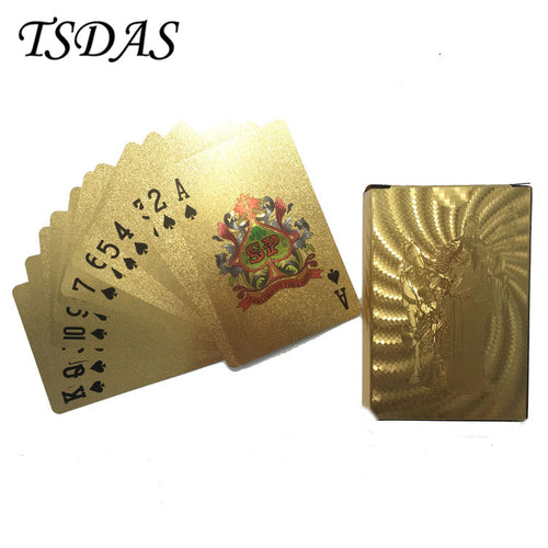 Gold Foil Plated Playing Cards, 52 cards, 2 Jokers, General Kwan Theme