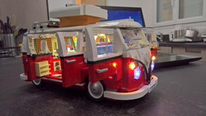 LED Light Kit for Technic VW T1 Camper Van Block