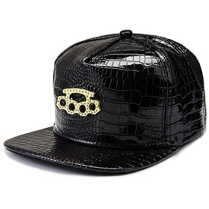 Hip Hop Street Gear, Patent Leather, Brass Knuckle Logo