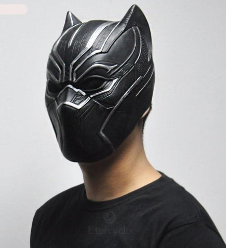 Black Panther Full Overhead Latex Cosplay Mask