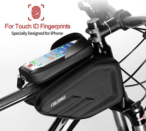 Tech Style Waterproof MTB Bicycle Front Touch Screen Phone Bag