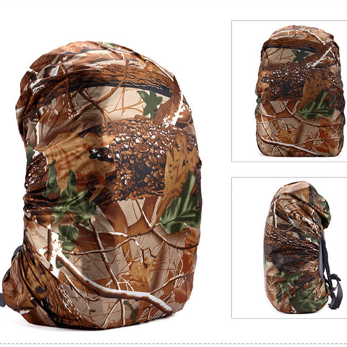 Nylon Waterproof Camo Backpack Dust Rain Cover 25-40L