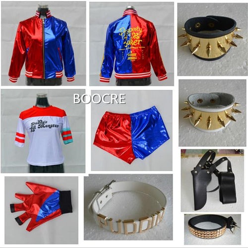 2018  Suicide Squad Harley Quinn, Cosplay, Comic Con, Halloween Costume With Most Accessories