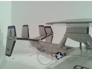 Aircraft DIY Paper 3D Model Northrop Grumman E-2C Hawkeye 1:32