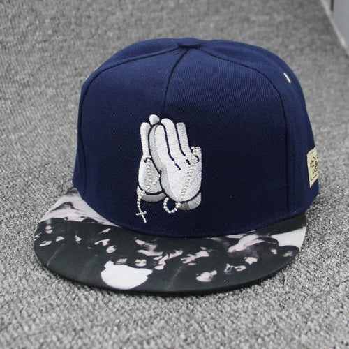 Mouse Hands Praying Hip Hop Cap