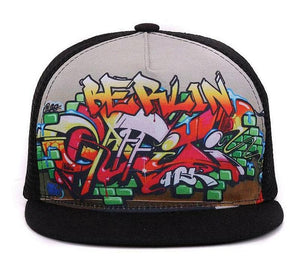 Street Swag Berlin Graffiti Mesh Trucker Snapback Adult & Kid