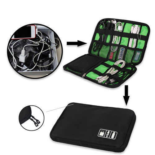 High Grade Nylon Waterproof Travel Electronics Accessories Organizer