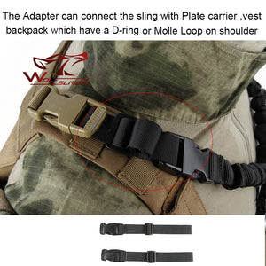 Adjustable Tactical Single Point Quick Release Bungee Rifle Sling