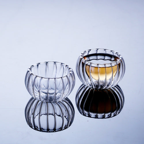 Double Wall Glass Mini Pumpkin Bodum Design Shot Glass 50ml 6Pcs/Lot