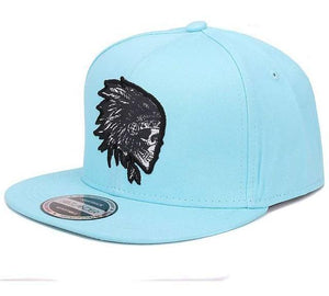 Embroidered Skull Chief Hip Hop Snapback