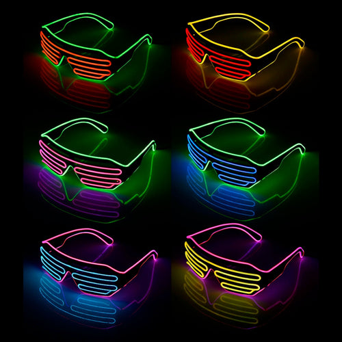 Two-Color Flash Modes LED Blinds Glasses