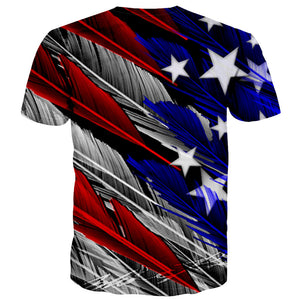 T-Shirt American Flag Feathers