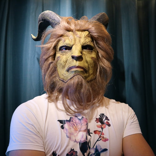 Beauty and the Beast Latex Full Overhead Cosplay Mask