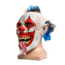 Snake Tongue Creepy Clown Latex Full Overhead Cosplay Mask