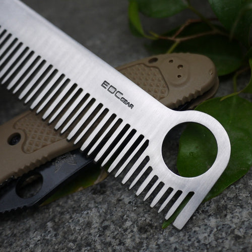 Tactical Stainless Steel Pocket comb