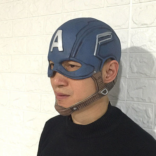 Captain America Latex Overhead Cosplay Helmet