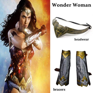 Wonder Woman Headband, Bracers, Arm Band