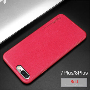 Ultra Slim Fabric Style Cloth Soft Case for iPhone XR XS XS Max X 8 7 6