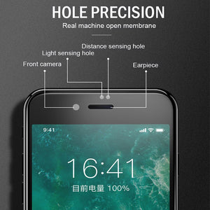 6D Full Coverage 9H Tempered Glass For iPhone X XR XS XS Max 8 7 6