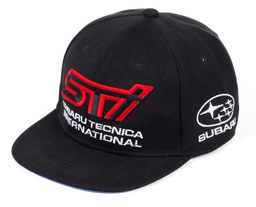 Subaru STI Motorsport Embroidered Snapback Caps