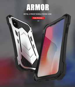 Heavy Duty Stealth Armor Shockproof Aluminum Phone Cases for iPhone XR XS XS Max X