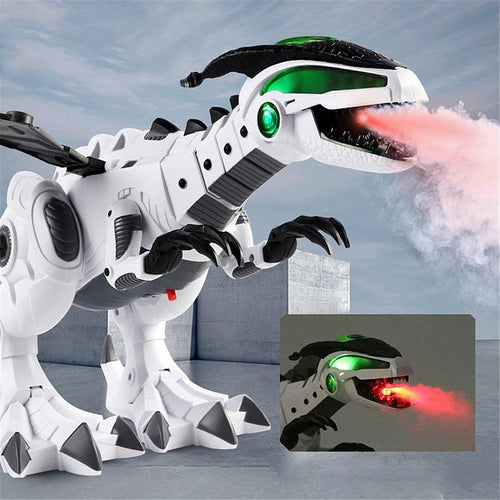 Mechanical Light Up Luminous Electronic Walking Robot Dinosaur with Spraying Mist