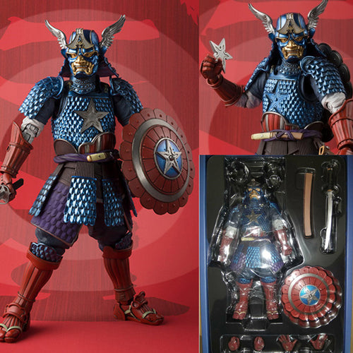 Manga Realization Samurai Captain America Action Figure