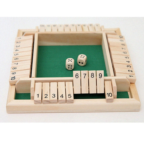Shut The Box Number Drinking Board Game 2-4 Players