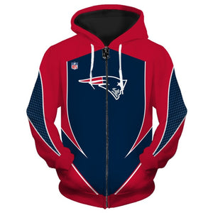 New England Patriots  Zip Up Hoodies