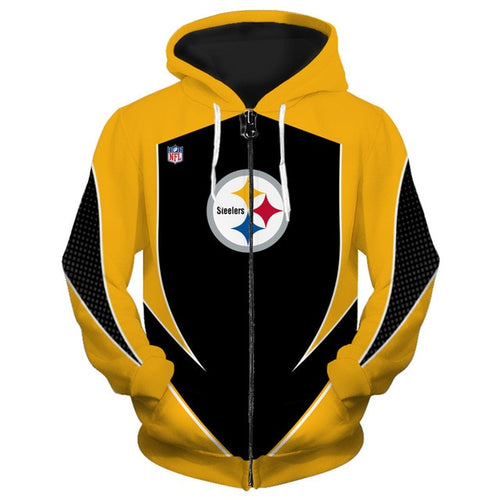 Pittsburg Steelers Zip Up Hoodies