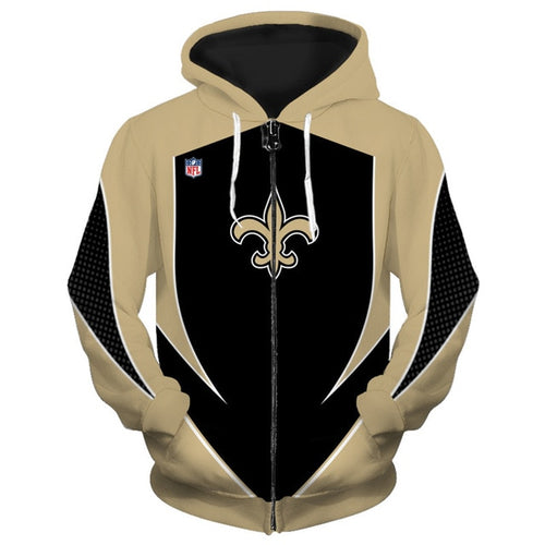 New Orleans Saints Zip Up Hoodies