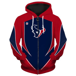 Houston Texans Zip Up Hoodies