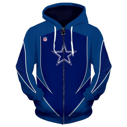 Dallas Cowboys Zip Up Hoodies