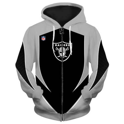 Oakland Raiders Zip Up Hoodies