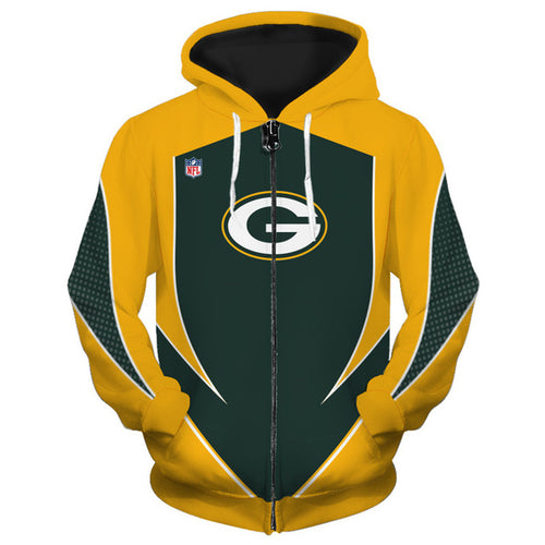 Green Bay Packers Zip Up Hoodies