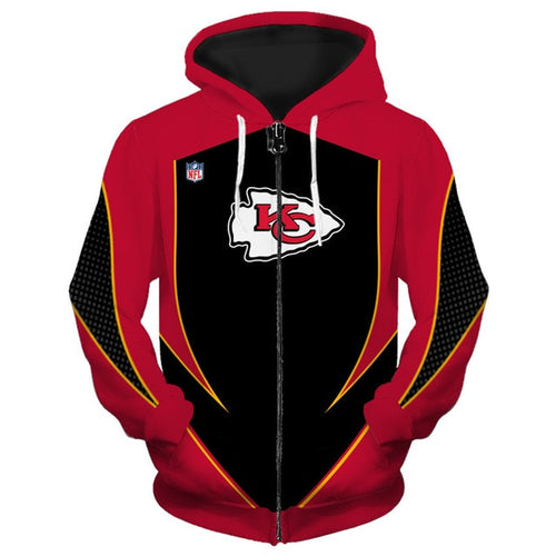 Kansas City Chiefs Zip Up Hoodies
