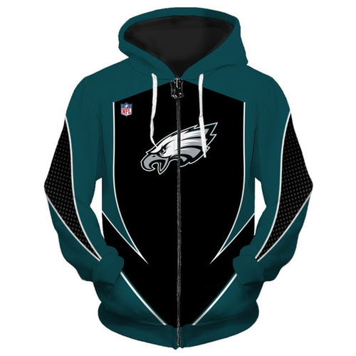 Philadelphia Eagles Zip Up Hoodies