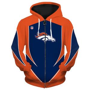 Denver Broncos Zip Up Hoodies