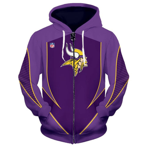 Minnesota Vikings Zip Up Hoodies