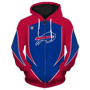 Buffalo Bills Zip Up Hoodies