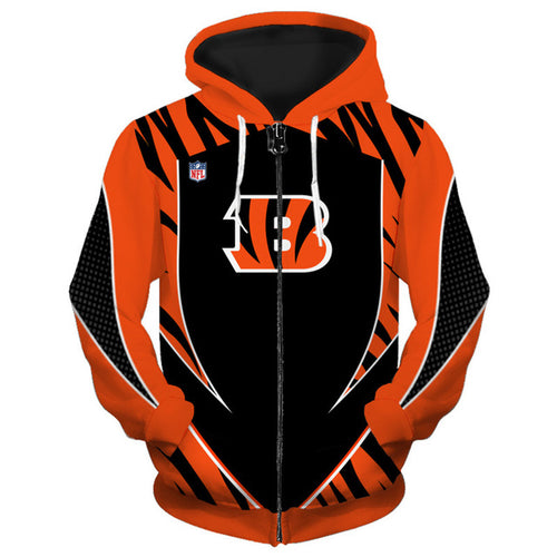 Cincinnati Bengals Zip Up Hoodies
