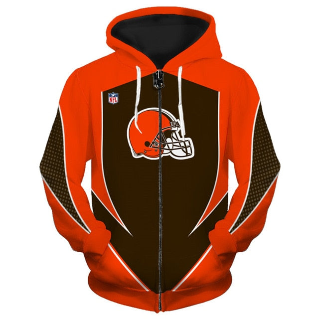 Cleveland Browns Zip Up Hoodies