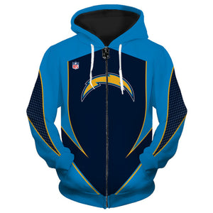 Los Angeles Chargers Zip Up Hoodies