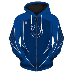 Indianapolis Colts Zip Up Hoodies