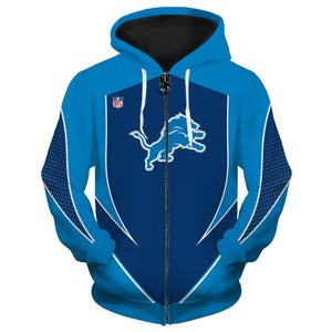 Detroit Lions Zip Up Hoodies