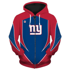New York Giants Zip Up Hoodies